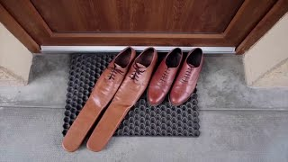 video: Watch: Shoemaker creates size 75 shoes to ensure social distancing