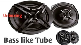 Sony oval XS-FB693E 3-Way Coaxial Car Speakers (Black) Unboxing