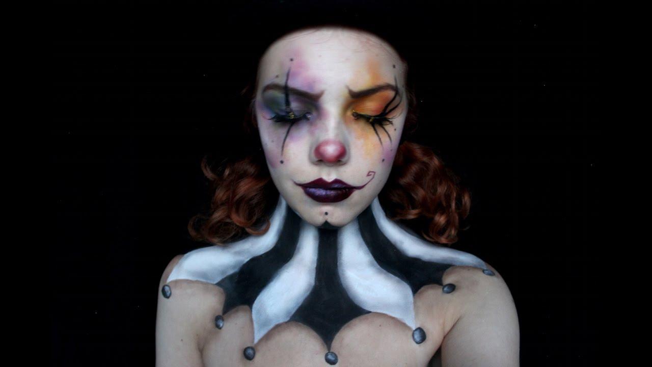 Evil ringmaster clown Burton style makeup tutorial II ...