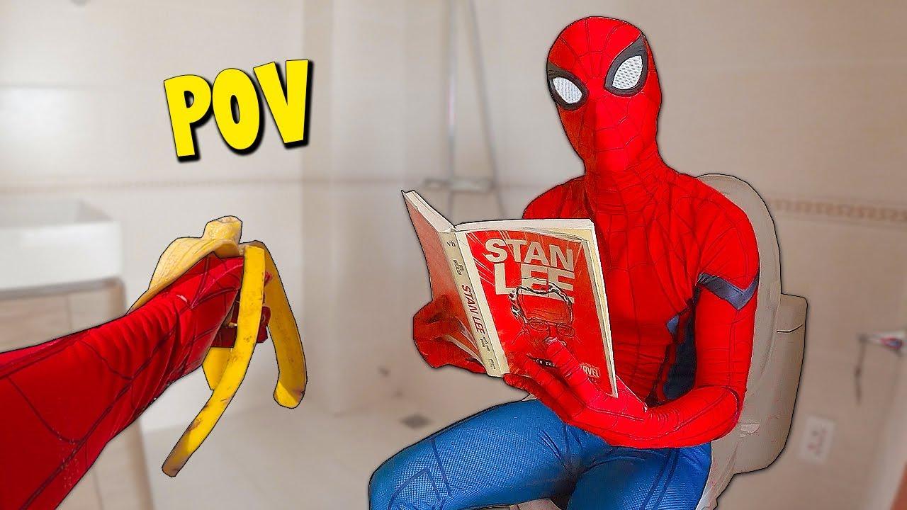 Late For Toilet | POV Spider-Man Parkour