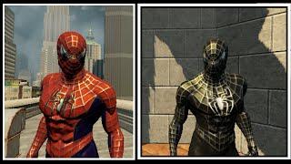 The Amazing Spider-Man 2 (PC) - Геймплей в костюмах из фильма Сэма Рэйми (TexMod skins)!