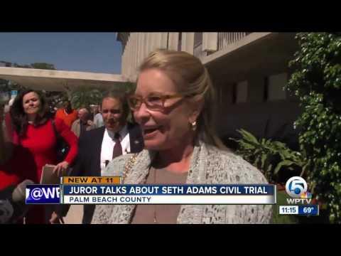Juror speaks about mistrial in Seth Adams civil trial