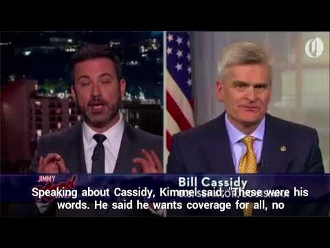 Jimmy Kimmel blasts new GOP health care bill, says Senator Bill Cassidy