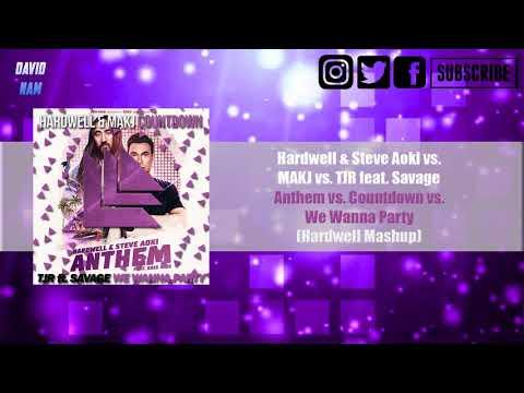 [25K] Anthem vs. Countdown vs. We Wanna Party (Hardwell Mashup) [David Nam Remake]