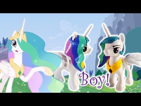 Custom Pony Princess Celestia transforms to a Boy Genderbend