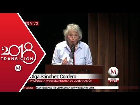 Olga Sánchez Cordero en la inauguración los foros 'Escucha' en Cd. Juárez