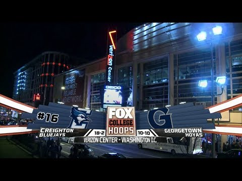 01/25/2017: Creighton Bluejays at Georgetown Hoyas