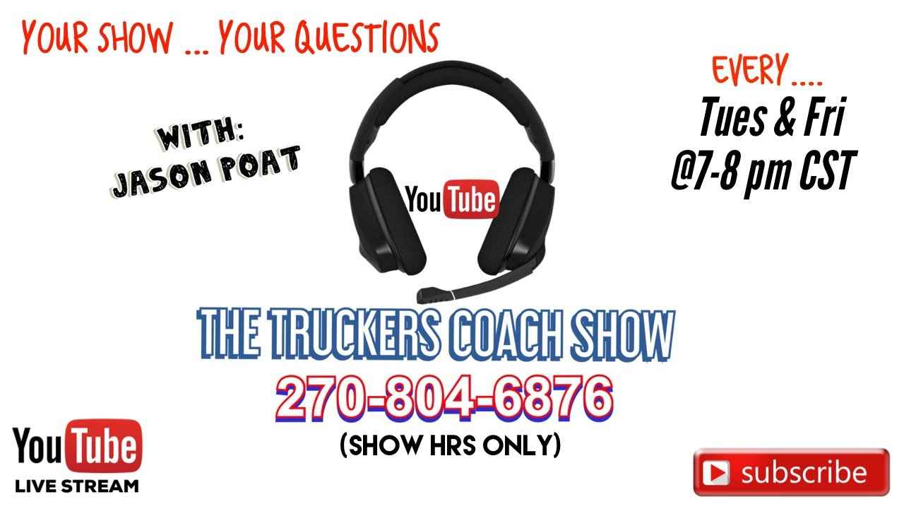 What did you learn this week in trucking ? LIVE CALL IN SHOW