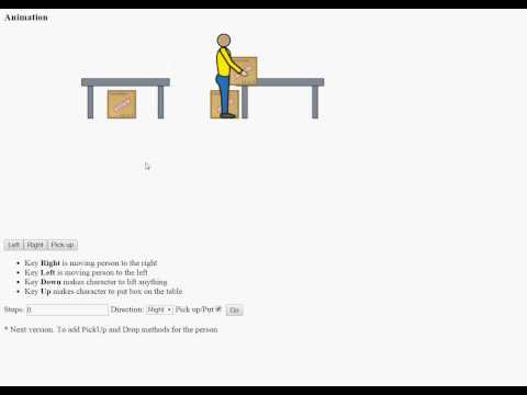 Factory worker animated object
