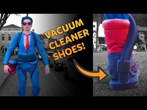 Cleaning The Streets With A Vacuum Suit! | Kids Invent Stuff