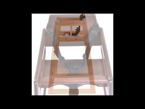 Wooden Baby High Chair Feeding Seat Slideshow