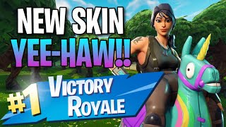 "New ""Yee-Haw"" Skin!! (10 Frag Solo Victory) - Fortnite: Battle Royale Gameplay"