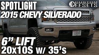 "Spotlight - 2015 Chevy SIlverado 1500, 6"" Fabtech Lift, 20 X 10's, And 35's"