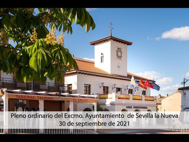 Pleno ordinario del Excmo. Ayuntamiento de Sevilla la Nueva - 30 septiembre 2021