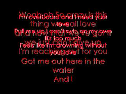 Justin Bieber Featuring Miley Cyrus - Overboard Lyrics On Screen