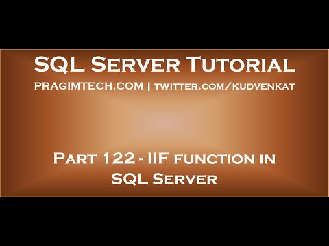 IIF Function In SQL Server