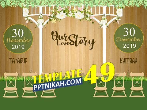Template Undangan Pernikahan Powerpoint (Kode PPT 49 ...