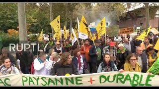 LIVE: French farmers protest in Strasbourg against planned EU agriculture reforms