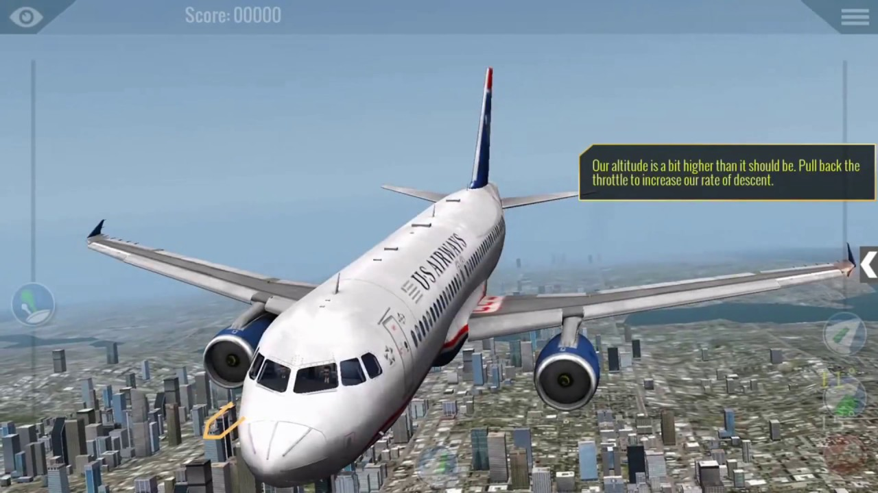 X Plane 10 mobile - Airbus A320 bumpy landing! - Gameplay