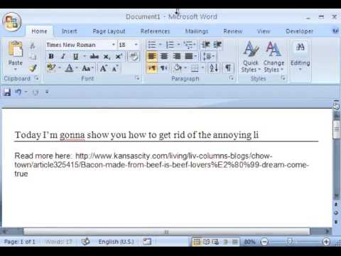 How To Remove Annoying Line Break In Microsoft Word Document In A
