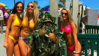 BUSHMAN SCARE PRANK AT THE BEACH 2