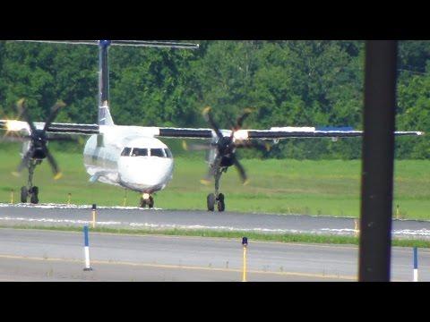 United Express Dash-8 Q400 N324NG Takeoff (HD)