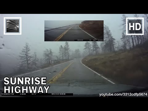 Driving from Julian to Interstate 8 on Sunrise Highway in the rain