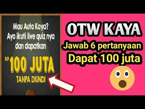 Otw kaya!! jawab 6 pertanyaan dapat 100 juta || aplikasi penghasil uang