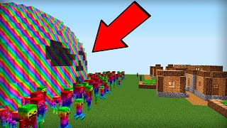 THESE UNUSUAL MONSTERS ATTACKED THE VILLAGE IN MINECRAFT