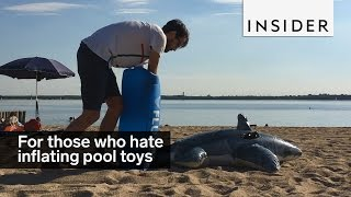 For those who hate inflating pool toys...