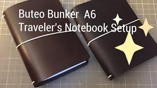 buteo bunker a6 traveler s notebook setup