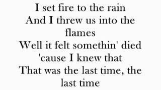 Adele - Set Fire To The Rain (Karaoke Instrumental With Lyrics)