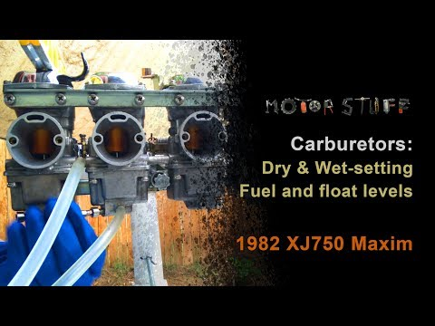 How to set motorcycle carb fuel level