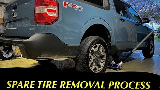 2022 FORD MAVERICK HΟW TO REMOVE THE SPARE TIRE