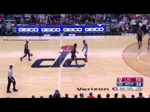 Chris Paul dunk sur vs The Wizards
