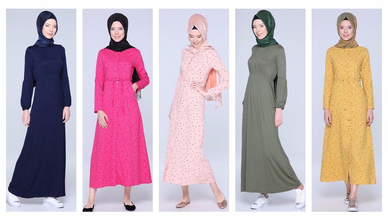 feb70d69f4eda Tozlu Giyim 2017 Tesettür Elbise Modelleri 2/2 - YouTube