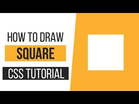 How To Draw A Square With CSS | How To Draw CSS Shapes-Tutorial 1 | CSS Tutorials