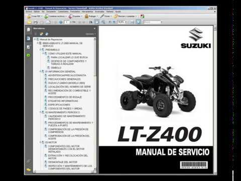 Suzuki Lt Z400 2003 2006 Manual De Taller Service Manual Youtube