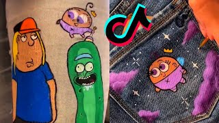 TikTok Painting On Jeans Compilation #1