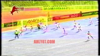 أهداف فوز الأهلي 2 مقابل 1 المقاولون العرب خشبة وحسام حسن الأسبوع الأول للدوري 21 أغسطس 1996