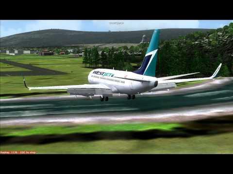 Livewire Flight 1328 CYVR-PAJN 737-700 WestJet. Landing back door at Juneau Alaska.