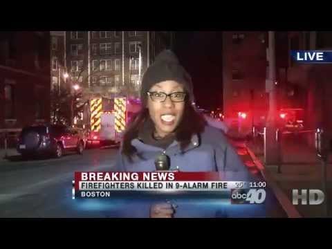 Boston Fire Two Firefighters Killed in 9 Alarm Boston Fire