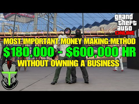 GTA Online $180,000 to $600,000 Per Hour Without Owning A Business (Most Important Money Method) thumbnail