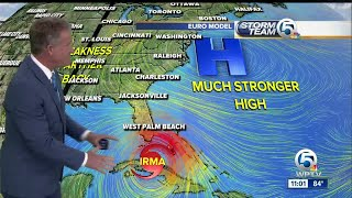 Irma now a Category 3 hurricane with 115 mph winds thumbnail