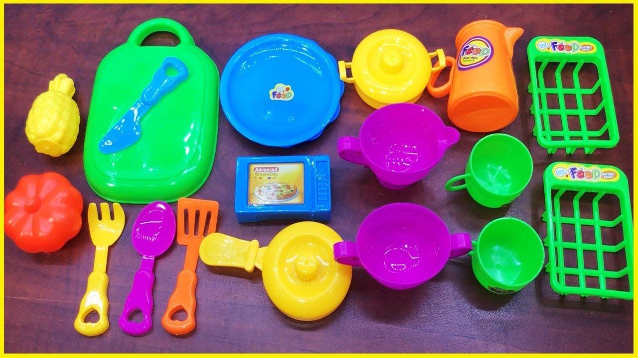 Đồ chơi nấu ăn bé gái 20 món có lò nướng, nồi chảo, rau củ, thìa dĩa, ấm nước-Cooking toys-Chim Xinh