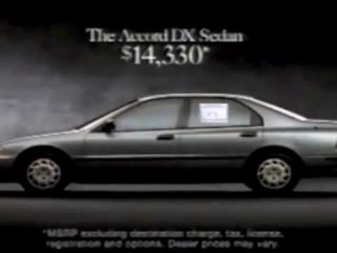 1994 Honda Accord Dx Sedan Commercial Youtube