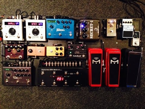 Pete Thorn's Pedalboard 2014 Part 1
