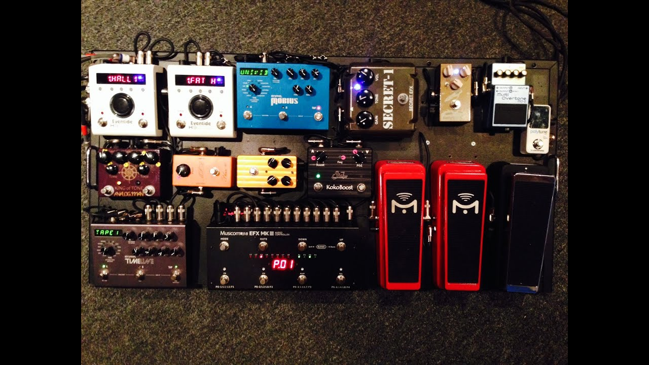 pete thorn 39 s pedalboard 2014 part 1 youtube. Black Bedroom Furniture Sets. Home Design Ideas