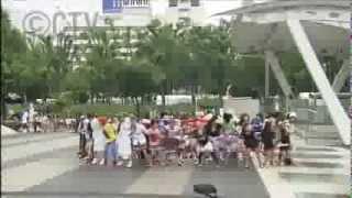 M-style カーニバり隊。2013年8月25日 栄オアシス21にて。