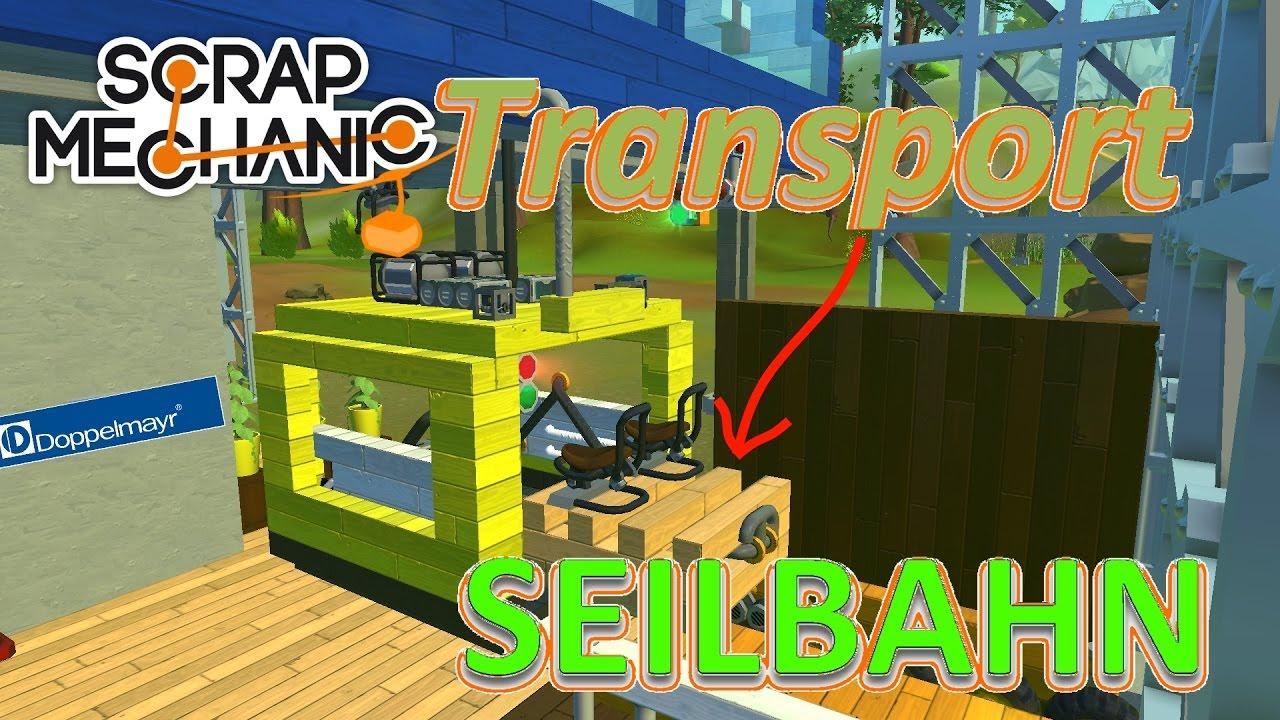 Scrap Mechanic | Transport Seilbahn Für Holzpaletten! +
